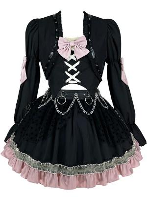 Blackberry Sweetheart Halter Top / Skirt / Cropped Jacket Set