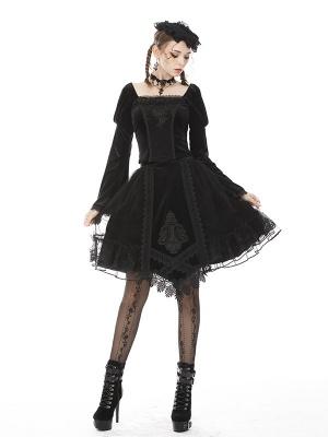 Gothic Lolita Velvet Skirt