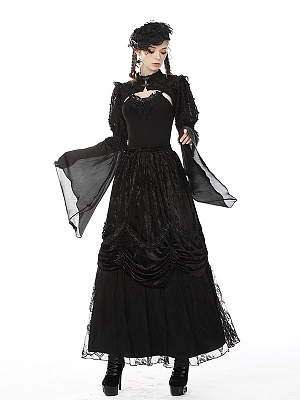 Gothic Elastic Waist Gorgeous Long Skirt