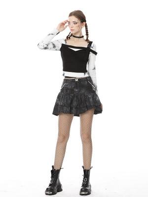 Punk Y2K Tie-dye Tiered Skirt