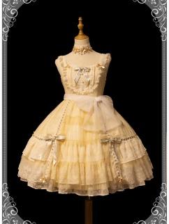 Lazy Time Squre Neckline Elegant Lolita Dress JSK
