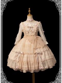 Lazy Time Squre Neckline Elegant Lolita Dress JSK Full Set