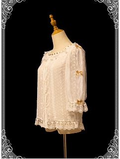 Lazy Time Squre Neckline Long Sleeves Elegant Lolita Dress Matching Shirt