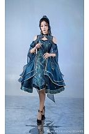 Peacock Feather Qi Lolita Dress JSK by Doris Night