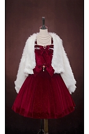 Koi Series Faux Fur Winter Lolita Outerwear
