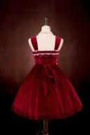 Custom Size Available Koi Series Bowknot front Elegant Velvet Lolita Dress JSK Without Lace Version