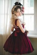 Custom Size Available Koi Series Lace on Skirt Elegant Velvet Lolita Dress JSK