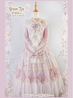 Tears of Flower Shadow Gorgeous Elegant Lolita Dress OP