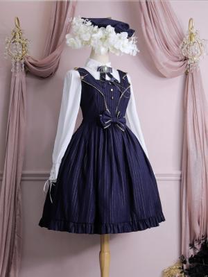 Back to School 4 Colors Square Neckline Classic Lolita Dress JSK