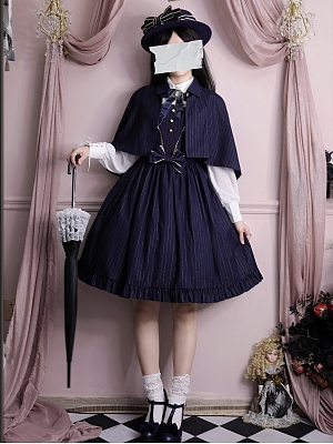 Back to School 4 Colors Stand Collar Lolita Cape Full Set