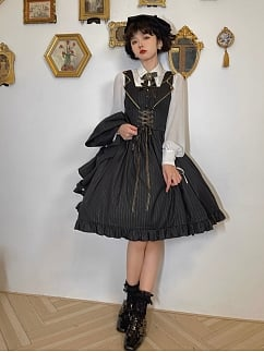 Back to School Turndown Collar Long Sleeves Lolita Shirt