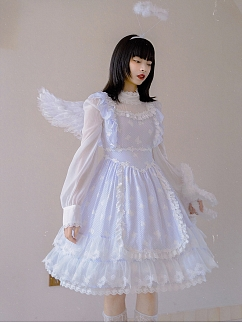 Absurd Garden Long Sleeves Butterfly Jacquard Dress by Day to Day