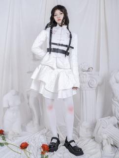 Elastic Waist Jacquard Double-layer Skirt