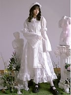 Absurd Garden Peter Pan Collar Detachable Long Sleeves Shirt by Day to Day