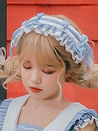 Blueberry Rabbit Sweet Lolita Dress Matching Hairband by Eieyomi