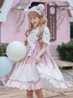 Bear Bakery Square Neckline Sweet Lolita Dress JSK  by Eieyomi