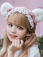 Bear Bakery Sweet Lolita Dress Matching Hairband by Eieyomi