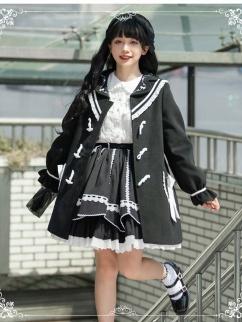 Nautical Diary JK Lapel Collar Long Sleeves Lolita Coat