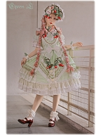 Cheese Berry 4 Colors Square Neckline Sweet Lolita Dress OP