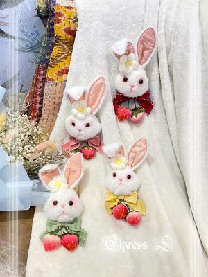 Cheese Berry Sweet Lolita Dress Matching Bunny Brooch
