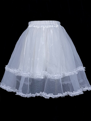 Glass & Luna Elegant Lolita Dress Matching Seersucker Lace Bloomers Skirt by Elven Rabbit