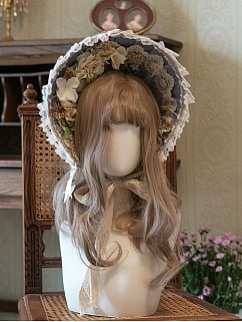 Muchalin Gorgeous Lolita Dress Matching Bonnet by Eternity Spring