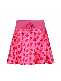 Y2K Rose Red Heart-shaped Skirt by FANLOVE