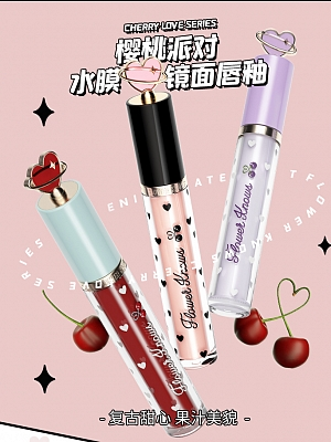 Cherry Party Series Lipstick 12 Colors Available by Flower Knows