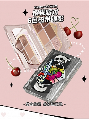 Cherry Party Series 6 coloured Eyeshadow Palette by Flower Knows