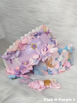 Blue and Pink Handmade Sweet Lolita Nurse Hat by Flounder