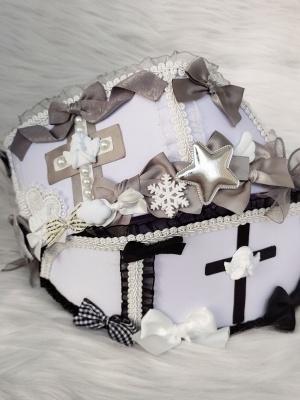 Angel Street Gray Handmade Sweet Lolita Nurse Hat by Flounder
