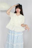 White Peter Pan Collar Short Sleevs Lolita Shirt by Four Daughters