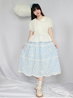 Sweet Butterfly Embroidered Lolita SK by Four Daughters