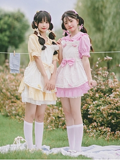 Cat Ear Babe Sweet Lolita Apron by Four Daughters