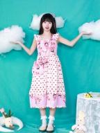 Milk Girl Print Square Neckline Sweet Lolita Dress JSK / Bag Set by Four Daughters
