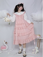 Elf in the Flower Square Neckline Sweet Lolita Dress JSK by Four Daughters