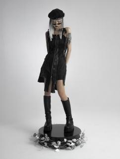Dark Irregular Self-tie Cami Dress by FROGLET