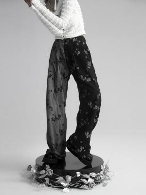 Vintage Contrast Color Wide Leg Pants by FROGLET