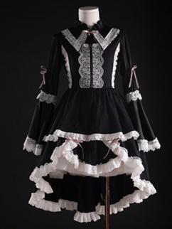 Abyss Rose Round Neckline Gothic Lolita Dress JSK