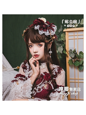 Sunset Forest JK Brown Long Curly Synthetic Lolita Wig with Bangs by Hengji