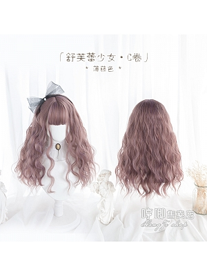 Soufflé Girl Egg Roll Long Curly Synthetic Lolita Wig with Bangs by Hengji