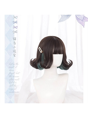 Cat and Novelist Short Curly Synthetic Lolita Wig by Hengji