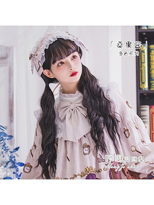 Mulberry Jam Black Brown / Chocolate / Golden Egg Roll Long Curly Synthetic Lolita Wig by Hengji
