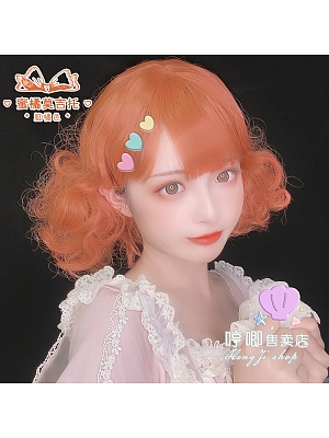 JK Double Ponytail Short Curly Synthetic Lolita Wig by Hengji
