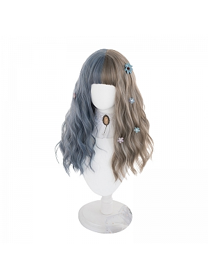 Messier Egg Roll Long Curly Synthetic Lolita Wig with Bangs by Hengji