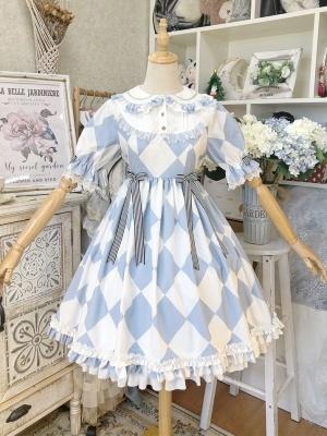Go Alice Peter Pan Collar Sweet Lolita Dress OP by Semi Sweet