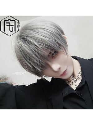 Ouji Handsome Fluffy Straight Short Length Lolita Synthetic Wig