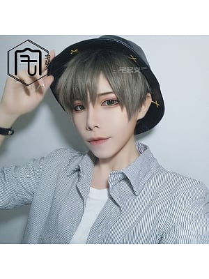 Ombre Ouji Straight Short Length Handsome Lolita Synthetic Wig