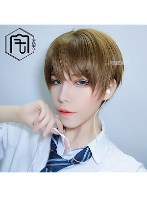 Straight Ouji Short Length Lolita Synthetic Wig with Bangs