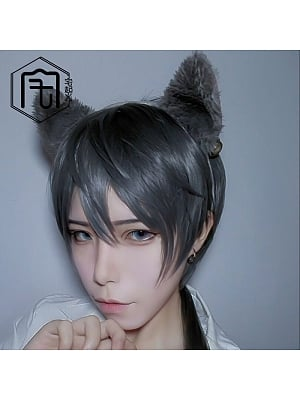 Fashion Ouji Short Length Lolita Synthetic Wig with Trailing